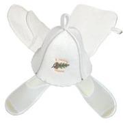 одноразовые тапочки и шапка для сауны