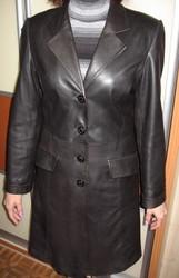 Френч кожаный,  чорный