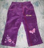 Велюровые штанишки на девочку