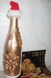 Оформление подарочной бутылки Шампанского под заказ