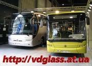 Автостекло триплекс,  лобовое стекло для автобусов ЛАЗ