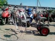 Грабли навесные 4-х колесные на мотоблок!