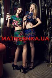 Болеро+юбка из платка в стиле Лурдес,  Матрешка