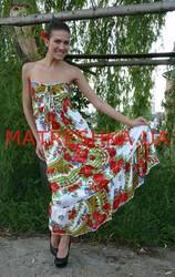 Платье трикотажное в стиле Лурдес,  Матрешка