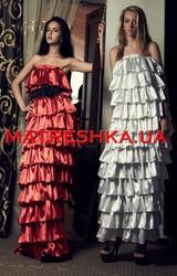 Ярусное платье из атласа в стиле Лурдес,  Матрешка