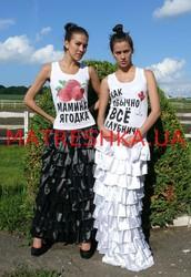 Ярусная юбка из атласа в стиле Лурдес,  Матрешка