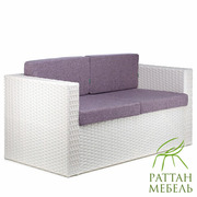 Плетеный диван из искусственного ротанга Франк