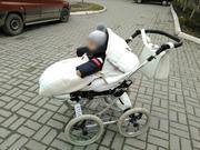 Детская универсальная коляска 2 в 1 Tutek Turran Silver eco (эко-кожa)