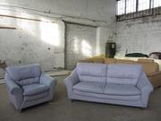 Диван+кресло кожаные в прекрасном цвете без единого дефекта из германи