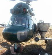 Услуги разбрасывания сыпучих удобрений вертолетом Ми-2 самолетом Ан-2